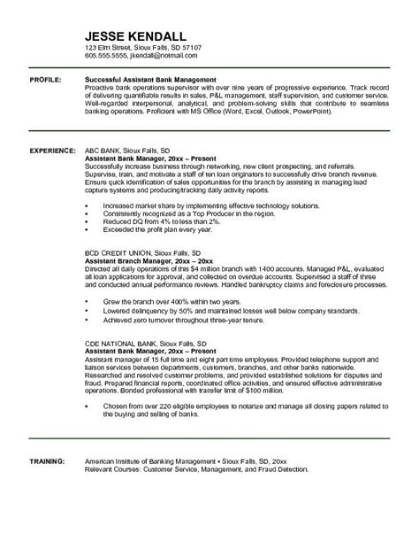 Resume Exles For by Resume Exles For Banking 28 Images How To Write Of