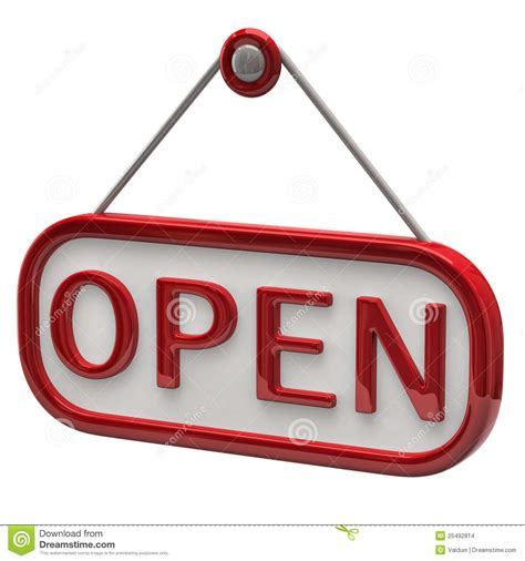 what is open on open sign stock images image 25492814
