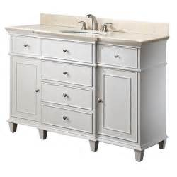 avanity 48 inches bathroom vanity in white finish
