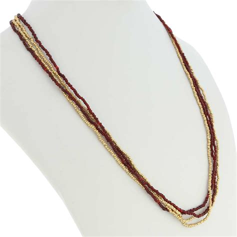 multi strand seed bead necklace murano necklaces multi strand seed bead necklace gold