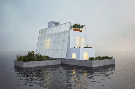 floating house proposal by carl turner architects for