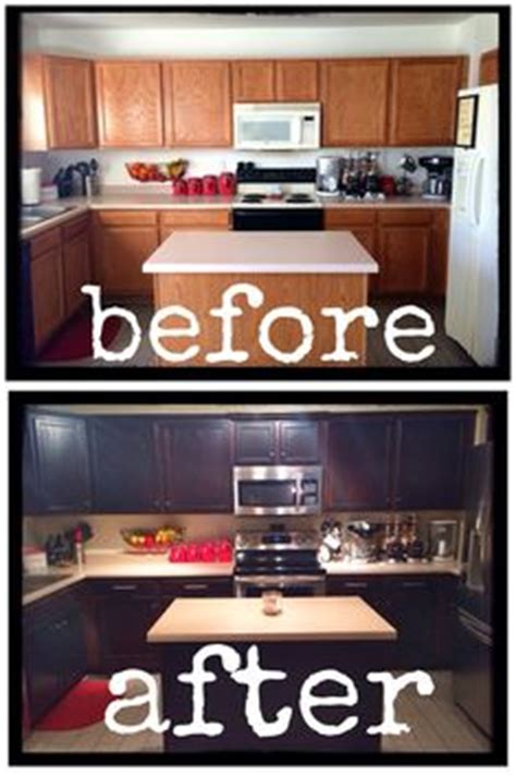 diy staining kitchen cabinets how to refinish kitchen cabinets makeover tutorial