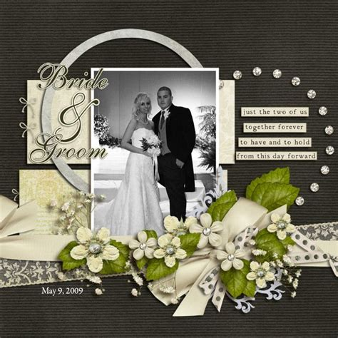 wedding scrapbook templates de 25 bedste id 233 er inden for wedding scrapbook layouts p 229