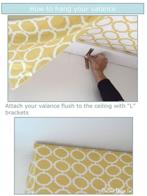 How To Make A Window Valance how to make a tailored valance this solves the problem of how to mount the valance the