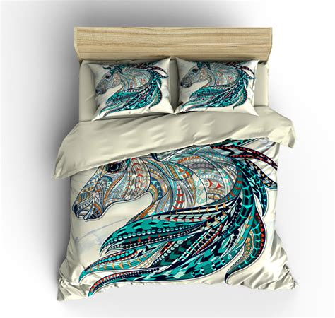 beautiful horse bedding comforter cover duvet cover pillow