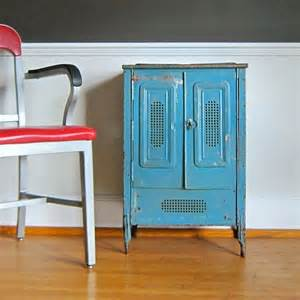 Painted Metal Kitchen Cabinets Rustic Painted Metal Cabinet Industrial Storage Vegetable