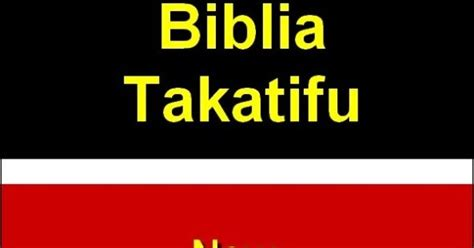 Pdf Swahili To Translation Free by Free Bible Gospel To All Nations Swahili Holy Bible Of
