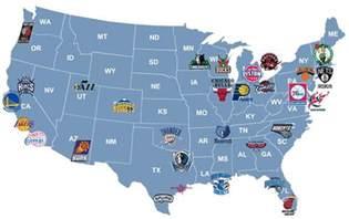 us map of nba cities esportes americanos mapas dos times da nfl nba mlb nhl