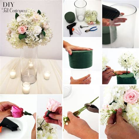 Diy Tall Centerpiece Preserved Roses Glass Cylinder How To Make Wedding Centerpieces