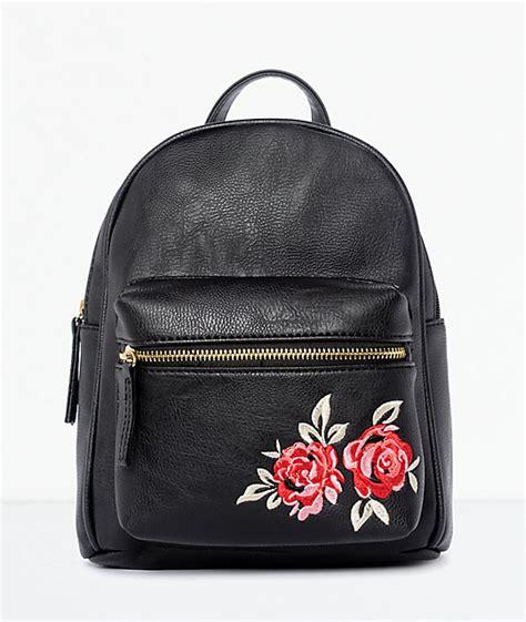 Ransel Mini Jansport Black Flower black embroidered mini backpack zumiez
