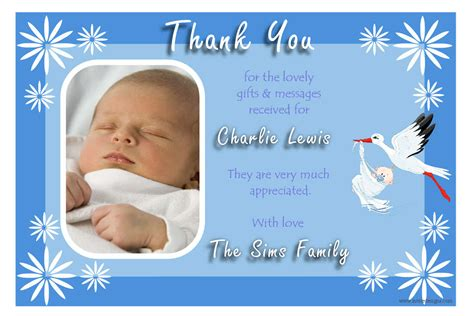 thank you letter to birth personalised thank you cards birthday thank you photo cards