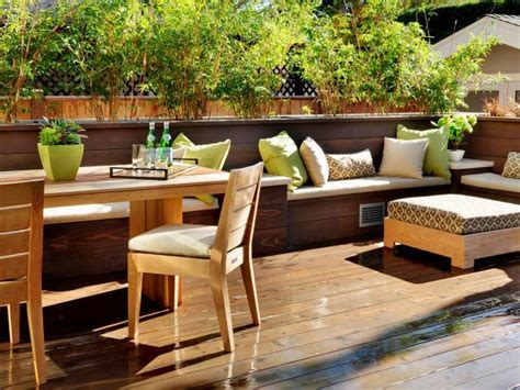 decks with benches built in photo page hgtv