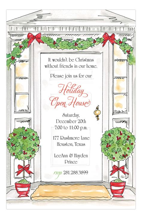 printable christmas open house invitations rosanne beck holiday open house invitation