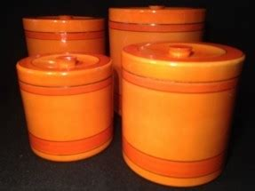 orange kitchen canisters thing