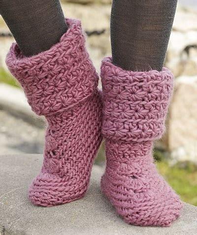 crochet boot slippers free patterns cool creativity diy 8 knitted crochet slipper boots