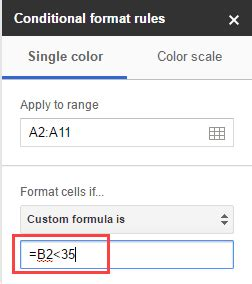 format date google sheets formula conditional formatting based on another cell value in