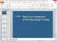 Human Resources ROI PowerPoint Template Office Templates Employee Information