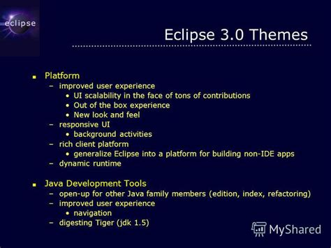 eclipse rcp themes презентация на тему quot eclipse more than a java ide pascal
