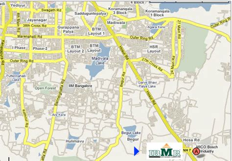 Mba Location by Bangalore Mba College B School Bangalore Map Location