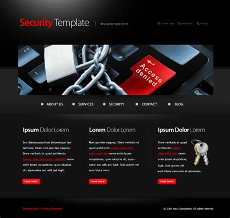 security html template 6084 military security