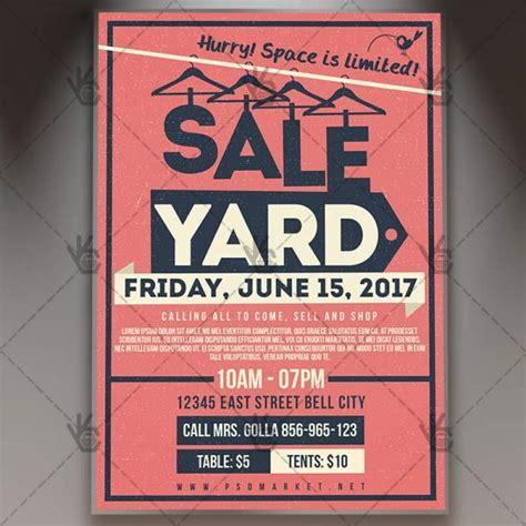 yard garage sale premium flyer psd template psdmarket