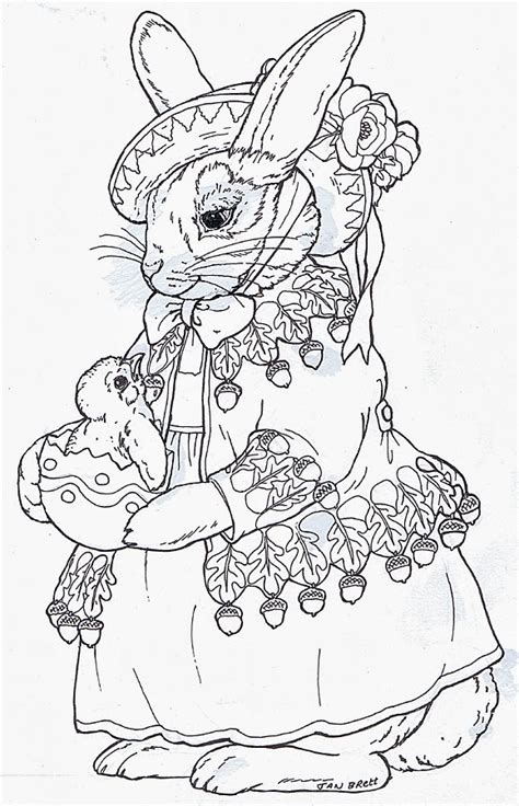 Inkspired Musings B Is For Bunny Coloring Pages Jan Brett