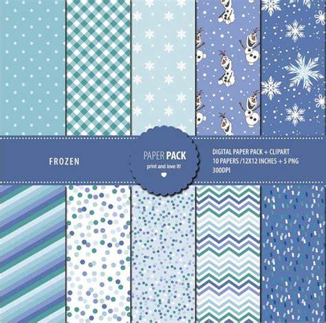 Printable Frozen Scrapbook Paper | digital paper pack and clip art frozen printable 12x12