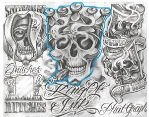 tattoo designs for quot loyalty skull half sleeve chicano