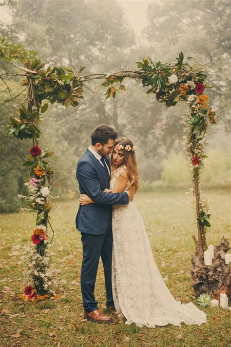 Wedding No Arch by 33 Boho Wedding Arches Altars And Backdrops To Rock