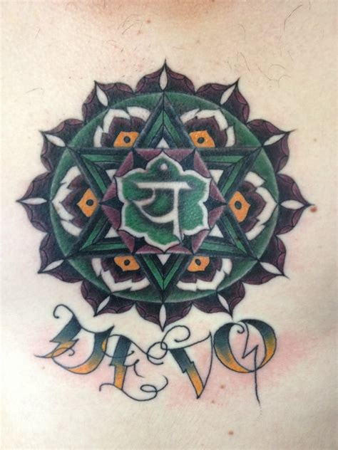 sacred tattoo oakland yantra chakra anahata sacred geometry hindu buddhist