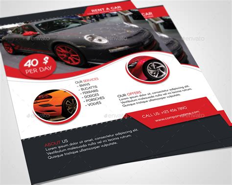 Car Brochure Template by Car Brochure Template Rent A Car Flyer Template Rigobro