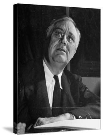 'President Franklin D. Roosevelt Making a Speech