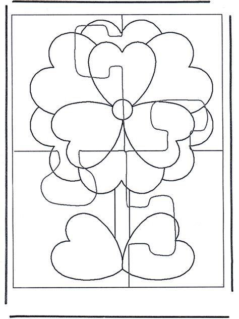 free coloring pages of puzzle pieces