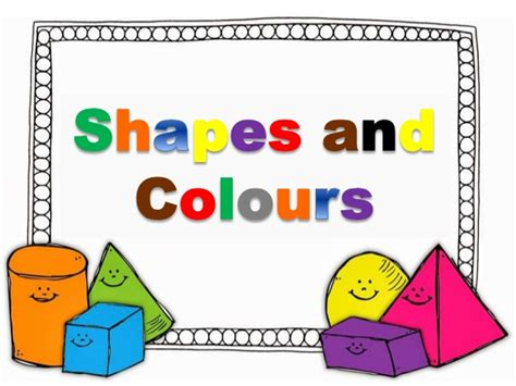 shapes and colors song basic shapes and colours