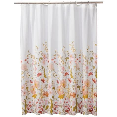 threshold flower shower curtain pink target