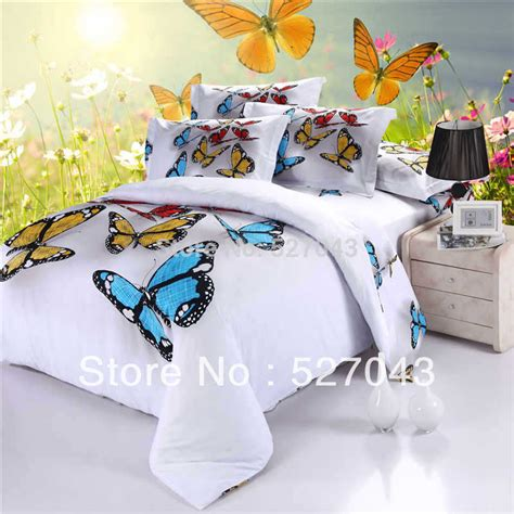 aliexpress com buy purple full queen king size butterfly