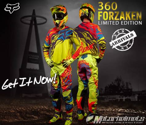 fox motocross gear 2014 product ad poster fox racing 360 forzaken le 2014 gear