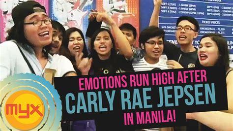 carly rae jepsen youtube channel emotions run high after carly rae jepsen in manila youtube