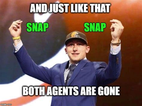 Johnny Football Memes - johnny football loses 2 agents in 3 months not to mention