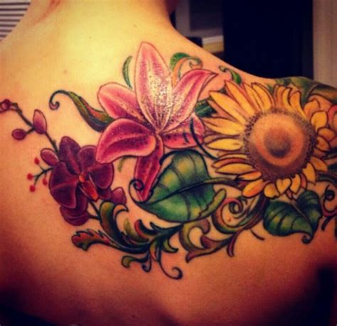 sunflower and rose tattoo 57 best images about unique tattoos on daisies