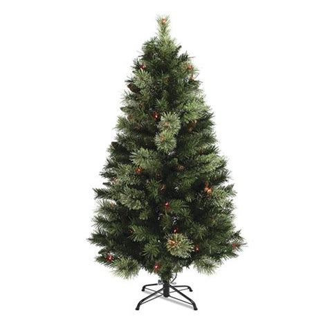 4 5 prelit davison pine christmas tree multicolor lights