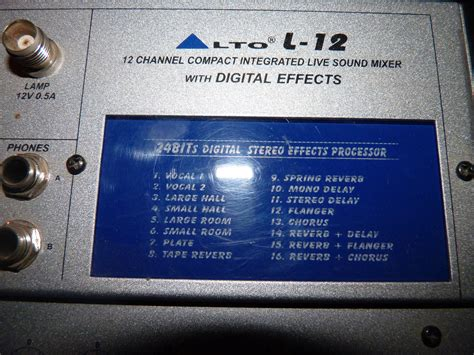 Mixer Alto L12 alto professional l12 image 510909 audiofanzine