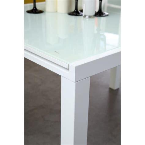 roma table extensible 120 180cm verre blanc achat vente