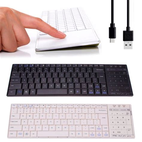 best bluetooth keyboard for android best bluetooth 3 0 ultra slim mini keyboard touch pad mouse for ios windows android mar09