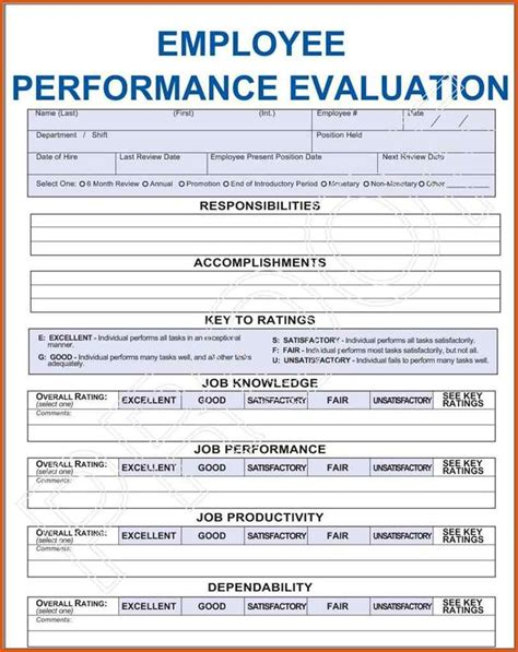 Appraisal Letter Jokes employee evaluation form general resumes