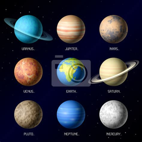 what color are the planets what are the colors of the planets in the telling order