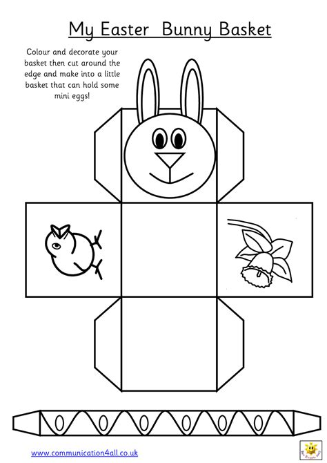Easter Basket Card Template by Early Play Templates Want To Make A Simple Easter Basket