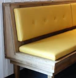faux leather banquette seating kitchen dining diy dining banquette bench with yellow