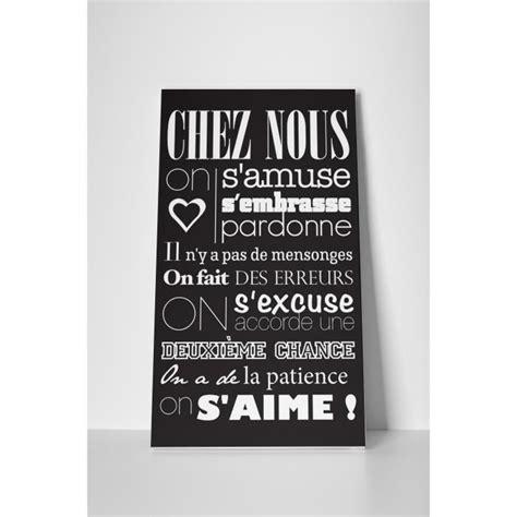 Tableau Chez But by Tableau 57x100 Cm Chez Nous On S Aime En N 233 Gatif