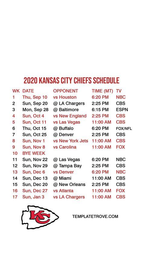 kansas city chiefs lock screen schedule
